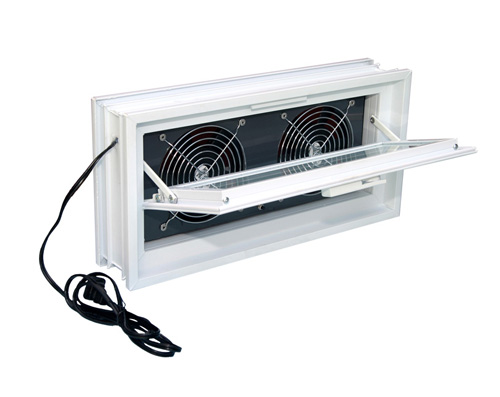 Dryer style power ventilator